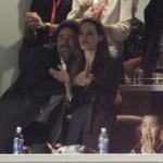 Brad Pitt e Angelina Jolie al Super Bowl
